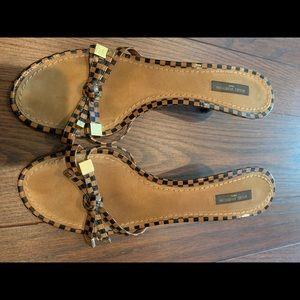 Louis Vuitton 40 Damier sandals
